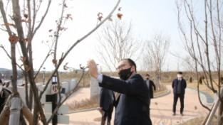 신원주 의장, '안성시추모공원' 개장전 현장 방문